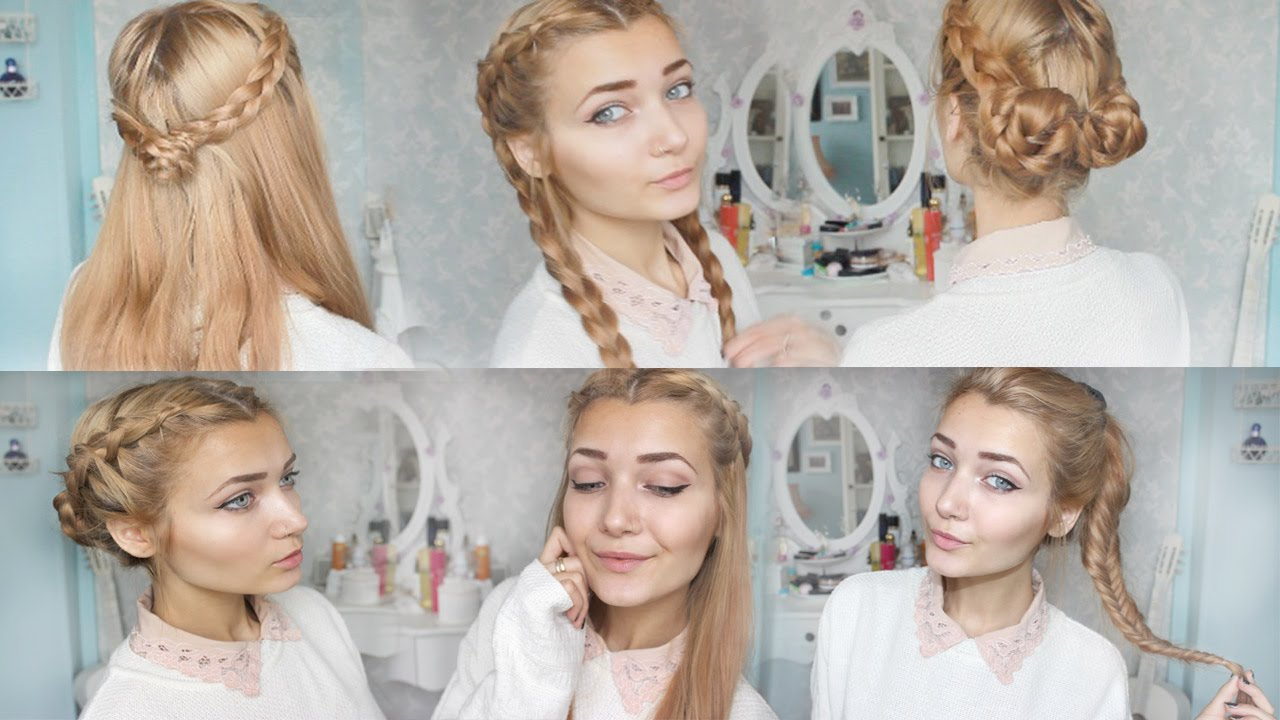 14 Cute and Easy Hairstyles for Back to School! | Hair Highlights
