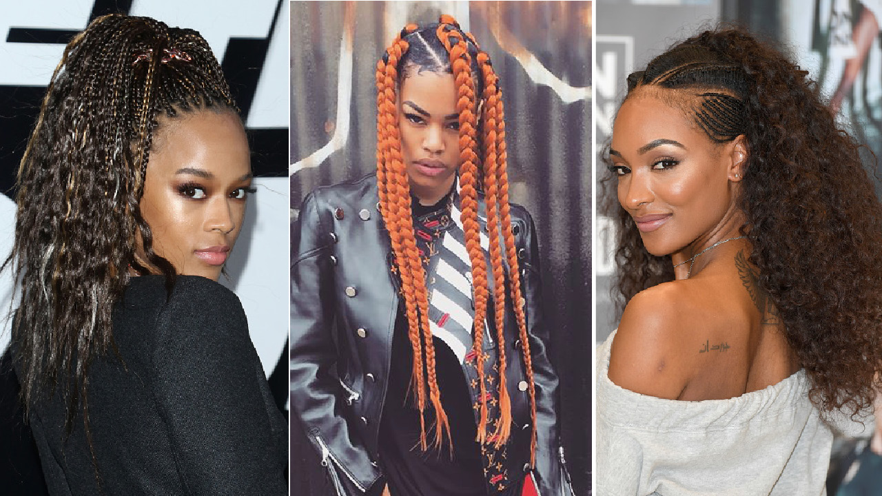 Black Hairstyles With Side Braids: Black Hairstyles Braids 2018