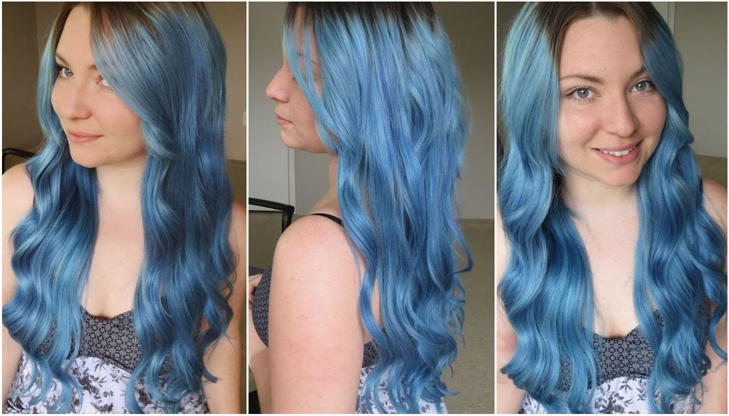 Blue Hairstyle Colour Replace Hair Colour To Daring Blue