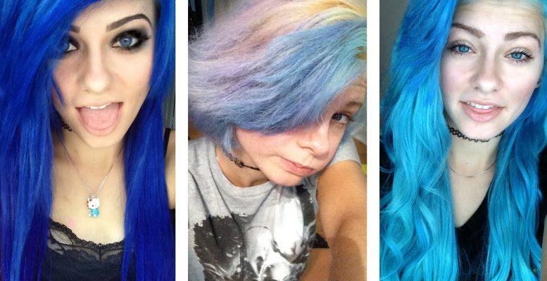 Blue Hairstyle Colour Replace Hair Colour To Daring Blue Hair