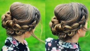 Bridal Long Hairstyles Updo for Bridesmaids