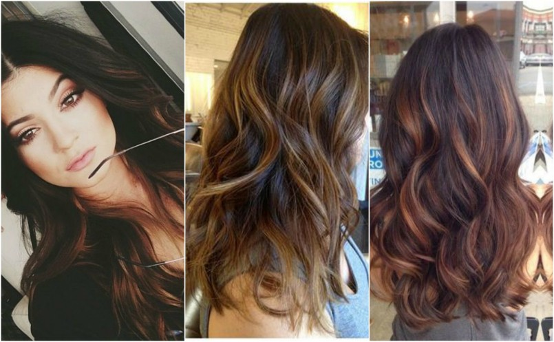Brown Hairstyles with Hair Highlights