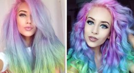 Creating Cotton Candy Hairstyle for Yourself