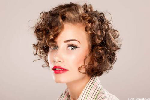 Curly Hairstyles Bangs