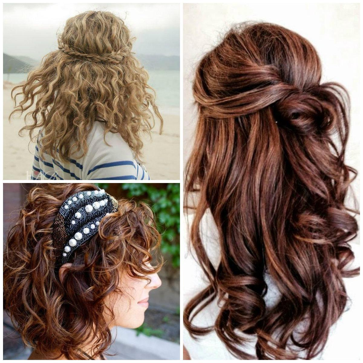Curly Prom Hairstyles for short haired Brunettes