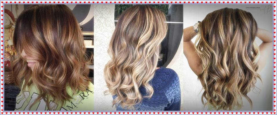 wavy brown bob with caramel highlights hair highlights