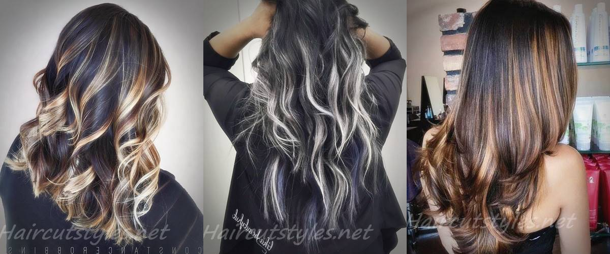 Best Black Hair with Highlights Ideas 2018