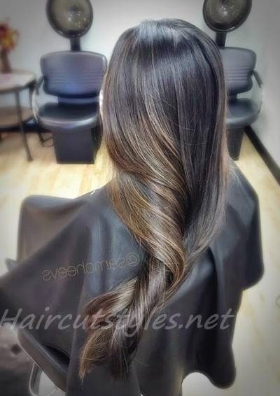 Black Hair With Chocolate Brown Highlights Hair Highlights