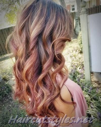 Blended Red Caramel Highlights Hair Highlights