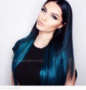 Long blue hair color