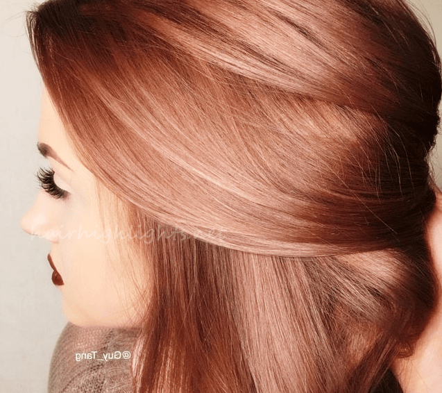 Rose Gold Hair Color Inspiration Hair Highlights