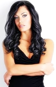 black hair dyed blonde