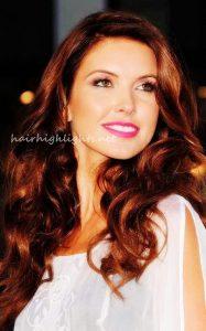 hair color burgundy highlights