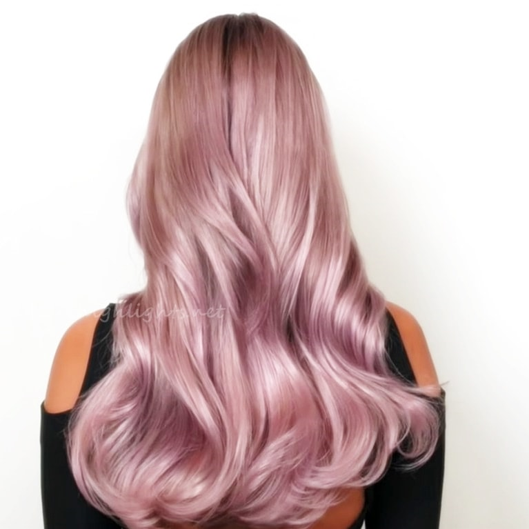 hair color styles purple