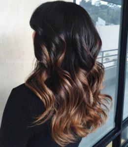 highlight colors for dark hair