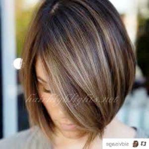 short hair highlights 2018