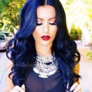 good streak colors for black hair