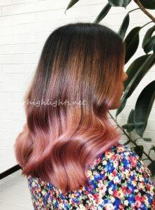 cute hair colors for dark hair