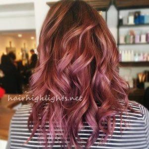 dark purple hair color for dark hair