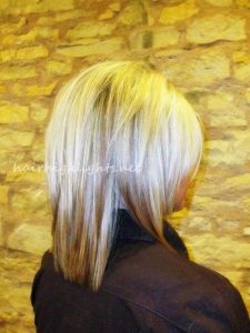 short to medium hairstyles back view