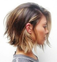 short to medium blunt hairstyles