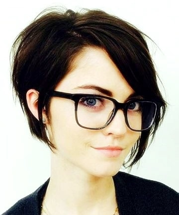 short black hair female