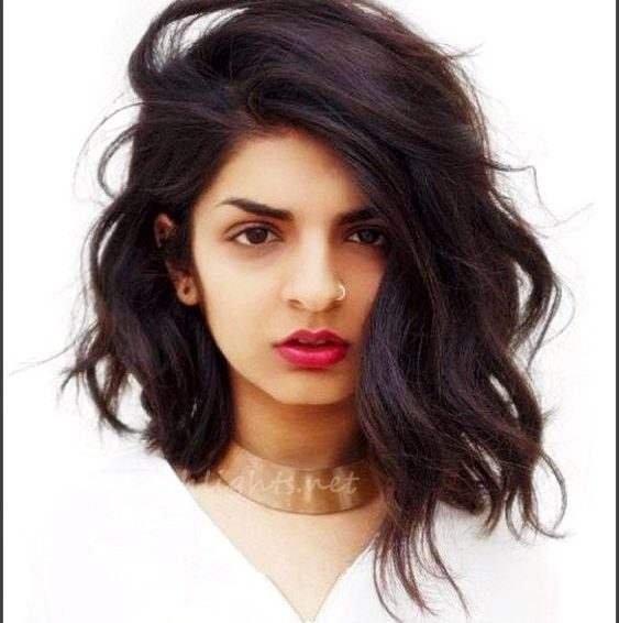 Short Black Hairstyles With Color Hair Highlights
