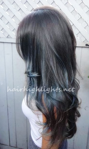 hair color ideas for dark hair with highlights